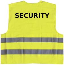 Security warning vest