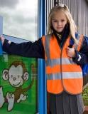 Junior Safety Hi-Viz Vest mit Wunschdruck