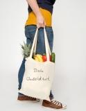 250x Baumwolltasche, lange Henkel, Basic mit 2-farbigen Wunschdruck
